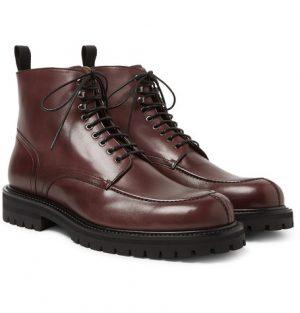 Mr P. - Jacques Leather Boots - Men - Burgundy