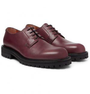 Mr P. - Jacques Leather Derby Shoes - Men - Burgundy