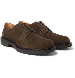 Mr P. - Jacques Suede Derby Shoes - Men - Brown