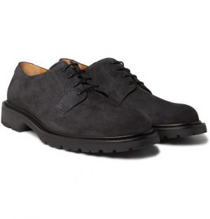 Mr P. - Jacques Suede Derby Shoes - Men - Charcoal