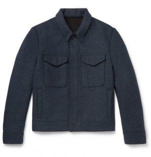 Mr P. - Mélange Felt Blouson Jacket - Men - Charcoal