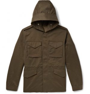 Mr P. - Weather-Resistant Hooded Field Jacket - Men - Army green