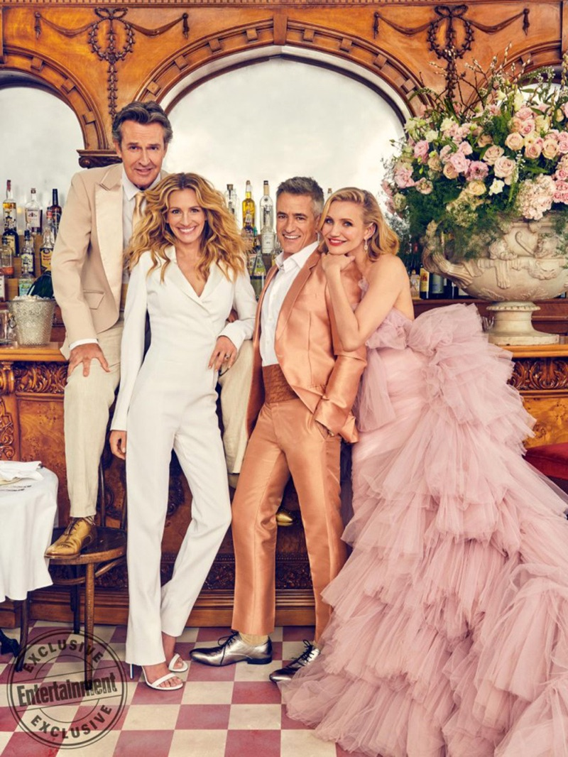 Actors Rupert Everett, Julia Roberts, Dermot Mulroney, and Cameron Diaz come together for Entertainment Weekly.