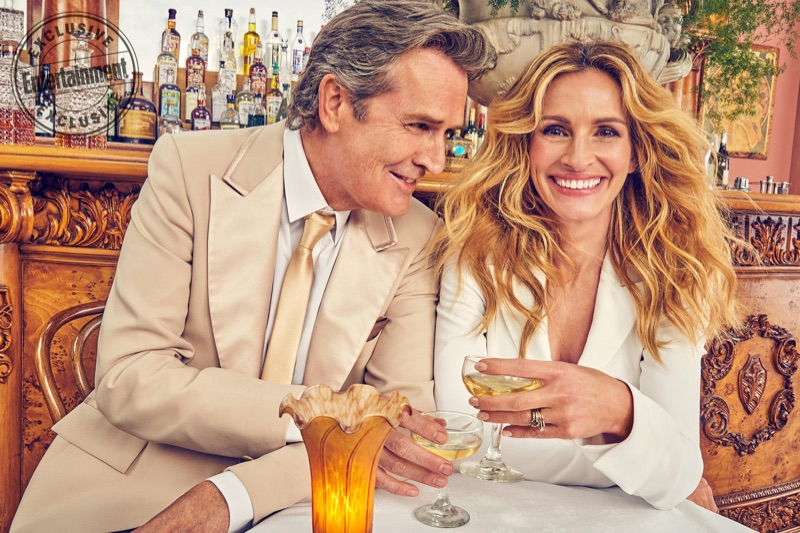 Sharing a picture, Rupert Everett and Julia Roberts pose together.