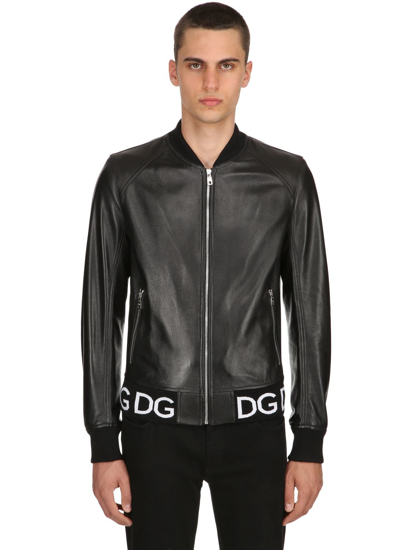 65b9261b1f7 Nappa Leather Bomber Jacket | The Fashionisto