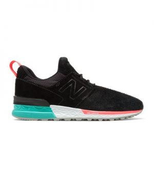 New Balance 574 Sport in Black Suede