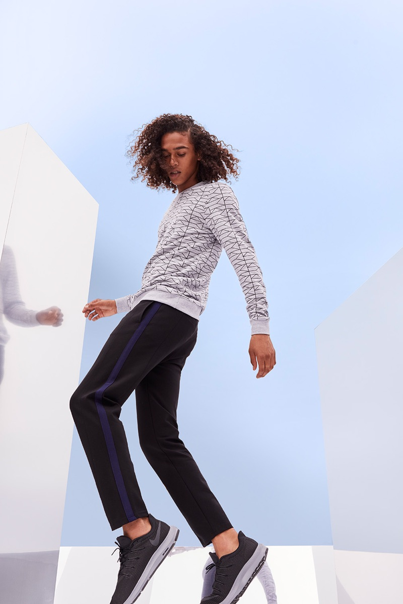 Model Leo Hoye-Egan stars in a sporty style feature for Nordstrom.