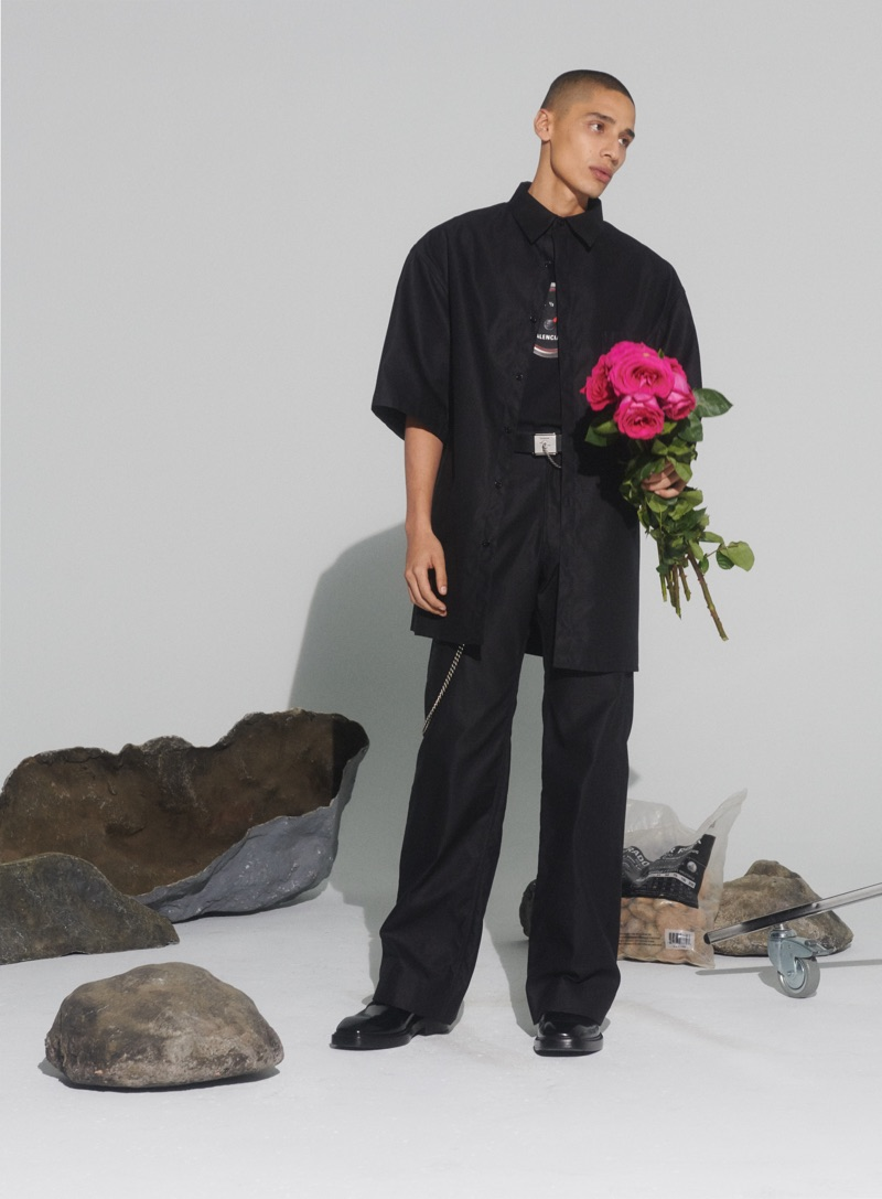 Alan Soule sports a Balenciaga look for Nordstrom's spring 2019 campaign.