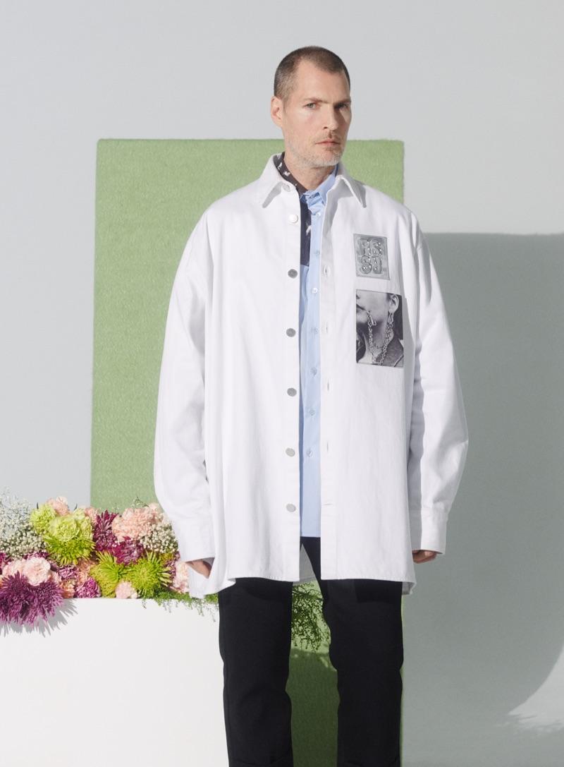 Larry Paul Scott models Raf Simons for Nordstrom's spring 2019 campaign.