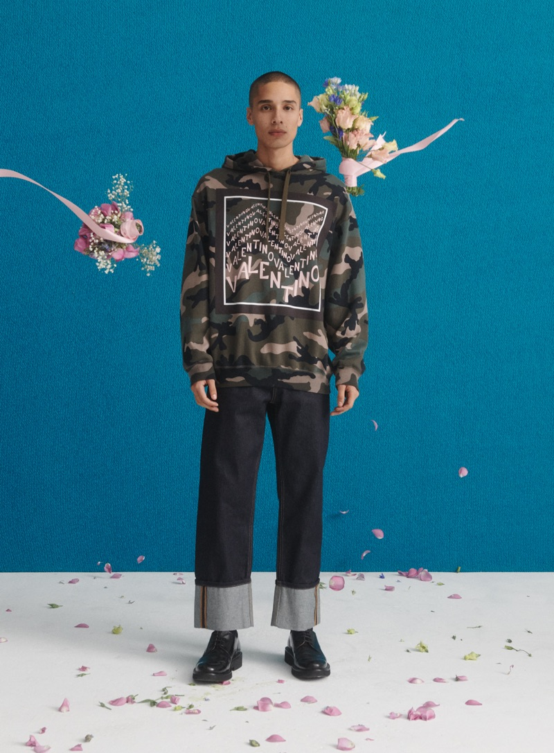 Going casual, Alan Soule wears Valentino for Nordstrom's spring 2019 campaign.