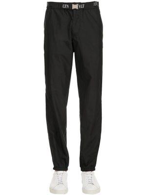 Nylon Track Pants W/ Vltn Belt