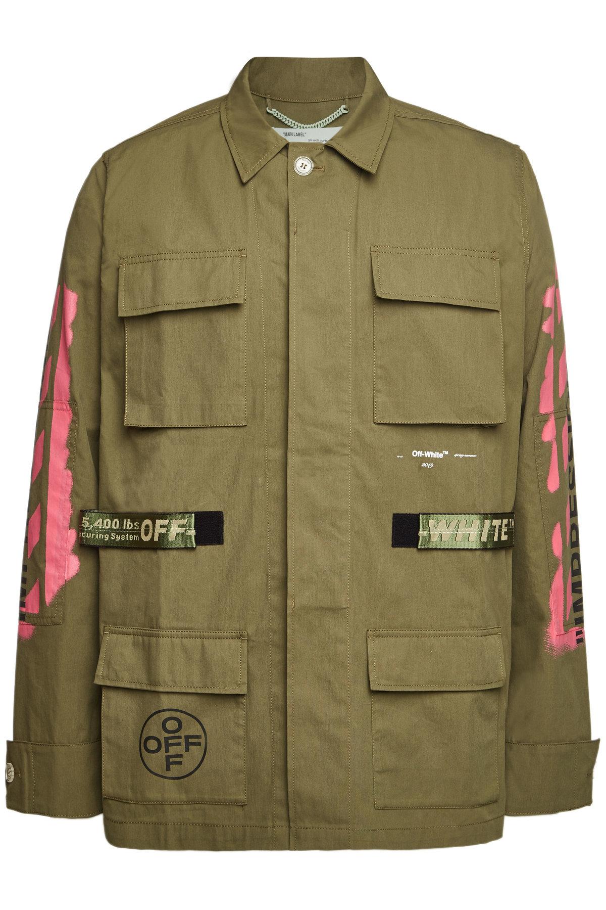 1eb6ff651 Off-White Cotton Diagonal Arrows Field Jacket