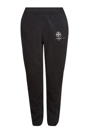 Off-White Cotton Diagonal Stencil Slim Sweatpants