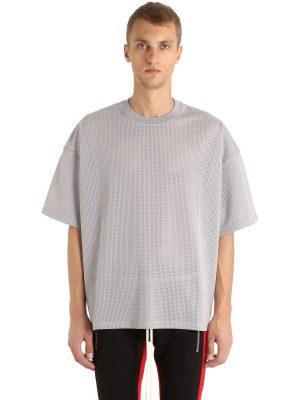 Oversized Techno Jersey & Mesh T-shirt