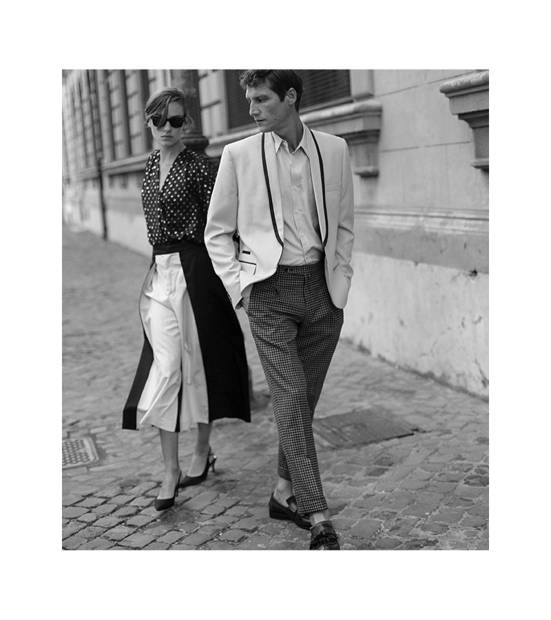 PT Pantaloni Torino enlists Lisa Fratani and Roch Barbot as the stars of its spring-summer 2019 campaign.
