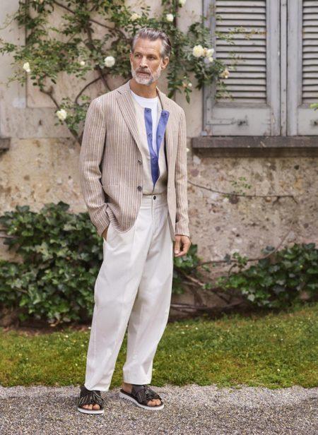 Axel Hermann, Piero Mendez & Nicolas Ripoll Don Elegant Style for Pal Zileri Spring '19 Campaign