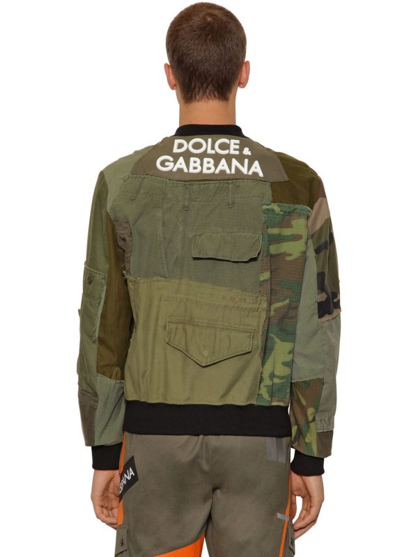 Patchwork Military Jacket W/ 3d Logo