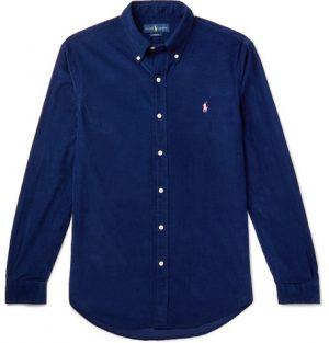 Polo Ralph Lauren - Button-Down Collar Cotton-Corduroy Shirt - Men - Blue