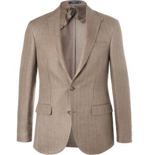 Polo Ralph Lauren - Morgan Green Slim-Fit Unstructured Herringbone Linen Blazer - Men - Green