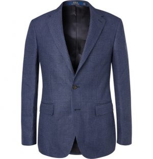 Polo Ralph Lauren - Navy Prince of Wales Checked Linen and Cotton-Blend Blazer - Men - Blue