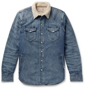 Polo Ralph Lauren - Sherpa-Lined Denim Western Shirt Jacket - Men - Mid denim