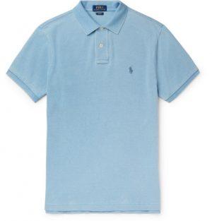 Polo Ralph Lauren - Slim-Fit Cotton-Piqué Polo Shirt - Men - Sky blue