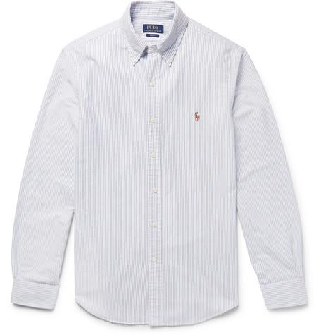 4bd3bb5d9e Polo Ralph Lauren – Slim-Fit Striped Cotton Oxford Shirt – Men – Blue | The  Fashionisto