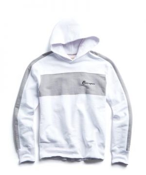 Popover Hoodie with Chest Stripe