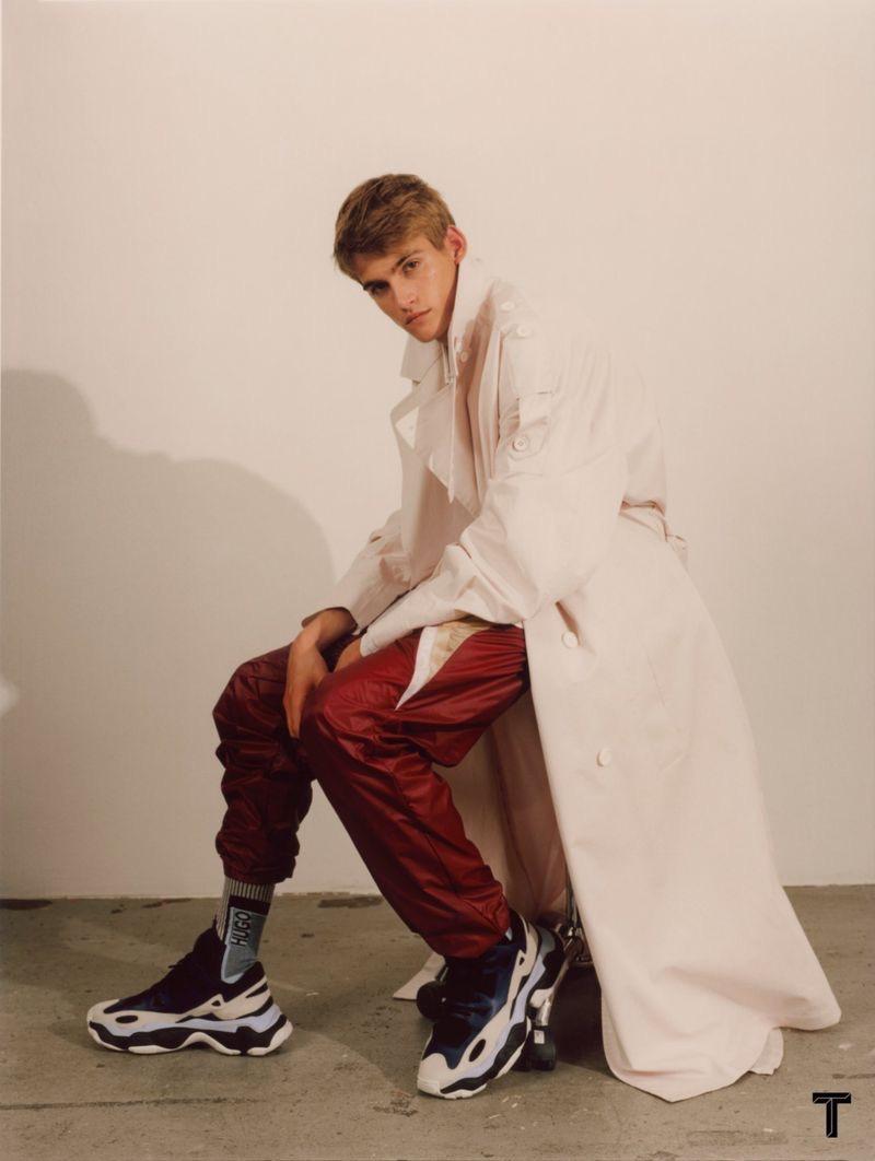 Presley Gerber Sports HUGO for The New York Times Style Magazine Singapore