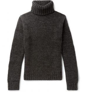 Ralph Lauren Purple Label - Cashmere Rollneck Sweater - Men - Charcoal