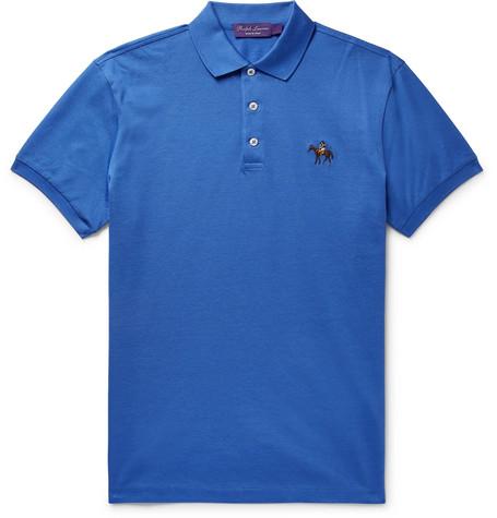 Label Ralph Shirt Polo Men Blue Cotton Piqué Lauren Purple pLGMVUqzS