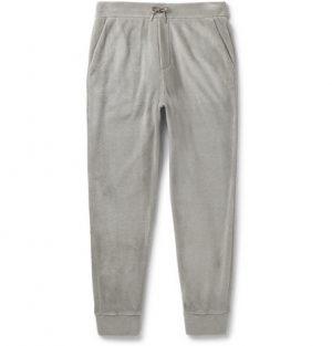 Ralph Lauren Purple Label - Slim-Fit Tapered Fleece Sweatpants - Men - Gray