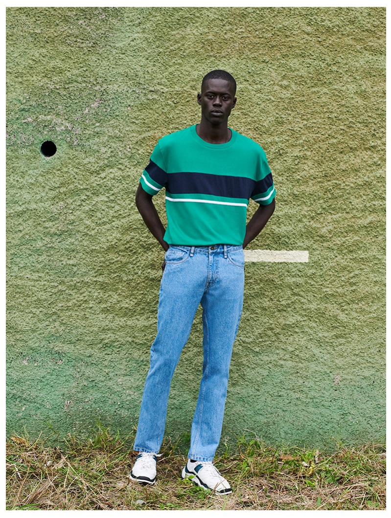 Alpha Dia dons a casual look from Reserved's spring 2019 collection.