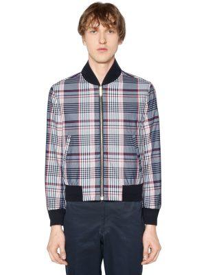 Reversible Zip-up Cotton Poplin Jacket