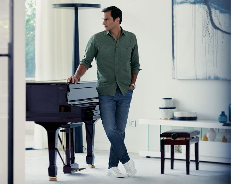 UNIQLO enlists Roger Federer to model its EZY denim jeans.
