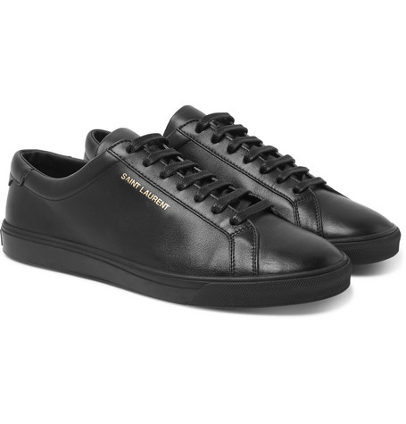 Saint Laurent - Andy Leather Sneakers - Men - Black