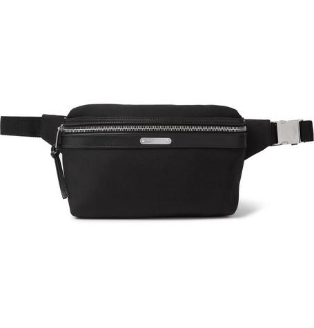 Saint Laurent - Canvas and Leather Belt Bag - Men - Black