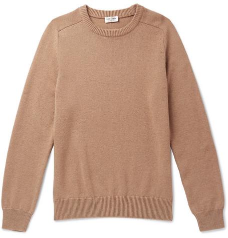Saint Laurent - Cashmere Sweater - Men - Camel