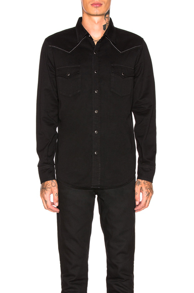 Saint Laurent Classic Western Shirt in Black. - size S (also in M,L)