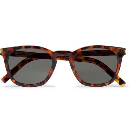 Saint Laurent - D-Frame Tortoiseshell Acetate Sunglasses - Men - Tortoiseshell