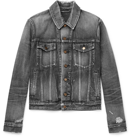 Saint Laurent - Denim Jacket - Men - Gray