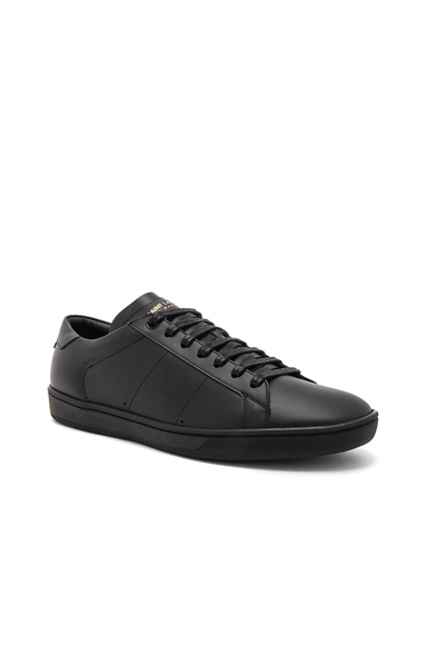 Saint Laurent Leather Low-Top Sneakers in Black. - size 41 (also in 41.5,42,42.5,43)