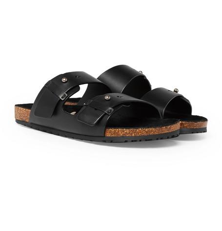 Saint Laurent - Leather Sandals - Men - Black