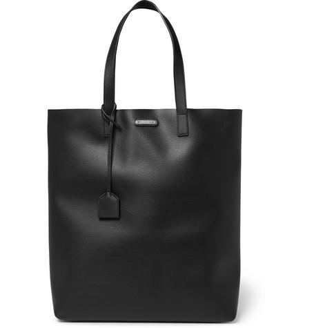 Saint Laurent - Leather Tote Bag - Men - Black