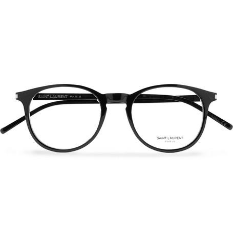 Saint Laurent - Round-Frame Acetate Optical Glasses - Men - Black