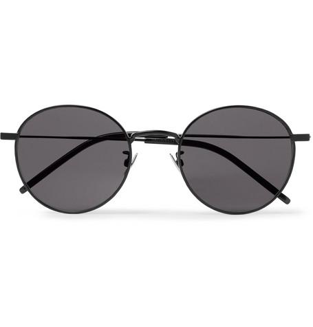 a60da686115 SAINT LAURENT – Round-Frame Metal Sunglasses – Men – Black | The ...