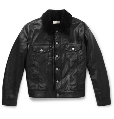 Saint Laurent - Shearling jacket - Men - Black