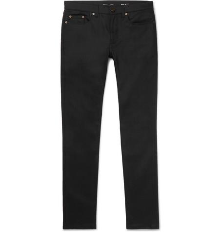 Saint Laurent - Skinny-Fit 15cm Hem Stretch-Denim Jeans - Men - Black