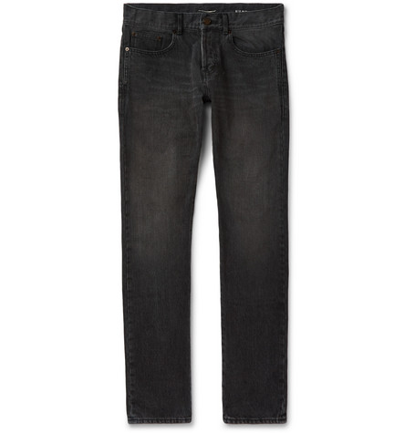 Saint Laurent - Slim-Fit 17cm Hem Denim Jeans - Men - Black