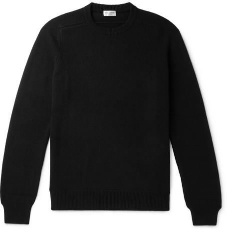 Saint Laurent - Slim-Fit Cashmere Sweater - Men - Black
